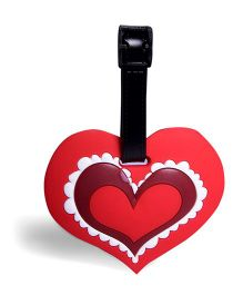 EZ Life Heart Luggage Tag - Red