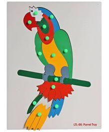 Little Genius Wooden Parrot Tray Puzzle