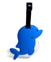EZ Life Dolphin Luggage Tag - Blue