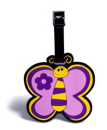 EZ Life Butterfly Luggage Tag - Purple