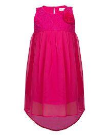 Soul Fairy Lace Yoke Printed Dress - Pink