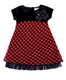 Soul Fairy Dress With Bow Detail - Black & Red