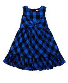 Soul Fairy Checkered Dress - Royal Blue