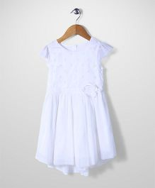 Mothercare Cap Sleeves Embroidered Bodice Frock - White