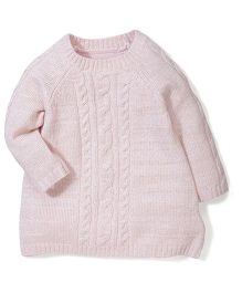 Mothercare Full Sleeves Sweater - Light Pink