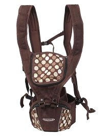 Colorland 3 Way Hipseat Baby Carrier Polka Dots Print - Coffee Brown