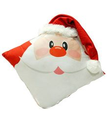 Stybuzz Santa Claus Cushion - White & Red