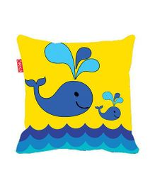 Orka Kids Design Digital Printed Square Cushion Filled With Micro Beads