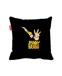 Orka Johnny Bravo Digital Printed Square Cushion Filled With Micro Beads