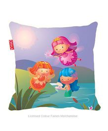 Orka Fairies Digital Printed Square Cushion Filled With Micro Beads