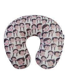 Orka Chhota Bheem Digital Printed U Neck Pillow Filled With Micro Beads