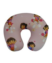 Orka Dora Digital Printed U Neck Pillow Filled With Micro Beads