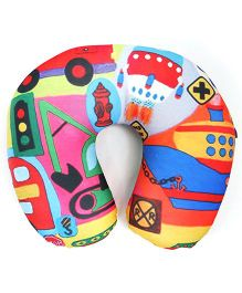 Orka Designer Digital Printed U Neck Pillow Filled With Micro Beads)