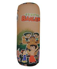Orka Chhota Bheem Cylindrical Pillow Filled With Micro Beads