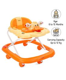 Babyhug Happy Duck Musical Walker - Orange