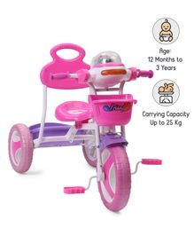 Babyhug Funride Tricycle - Pink