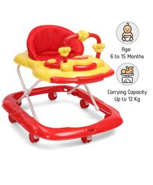 Babyhug My Toyfun Musical Walker - Red