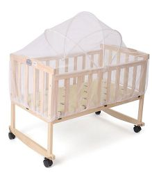 Babyhug 2 In 1 Rock A Cot - Light Brown