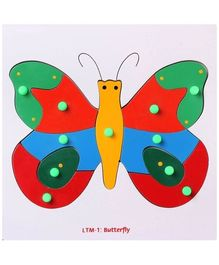 Little Genius - Butterfly Tray  Wooden Puzzle