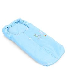 Montaly Baby Sleeping Bag Teddy & Duck Embroidery - Blue