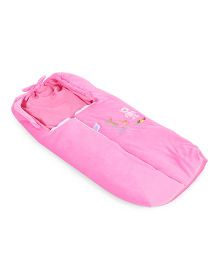 Montaly Baby Sleeping Bag Teddy & Duck Embroidery - Pink