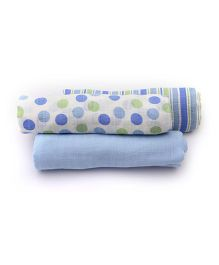 Mi Dulce An'ya Swaddle Wrapper Set of 3 - Blue