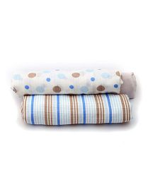 Mi Dulce An'ya Swaddle Wrapper Set of 3 - White Beige