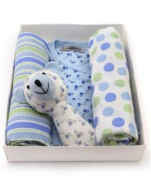 Mi Dulce An'ya Organic Cotton Gift Set Pack of 4 - Blue