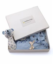 Mi Dulce An'ya Organic Cotton Gift Set Pack of 6 - Blue