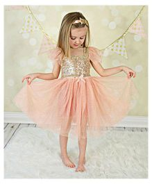 Tiny Closet Sequined Dress - Peach
