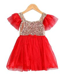 Tiny Closet Sequined Dress - Red
