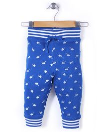 Jute Baby Sun-Glass Print Track Pant - Royal Blue