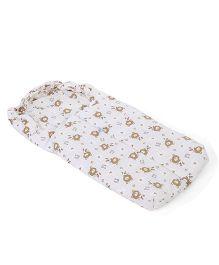 Montaly Baby Sleeping Bag Love Bear Print - White