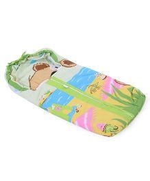 Montaly Baby Sleeping Bag Sea Life Print - Green & Multicolor