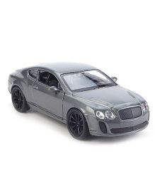 Welly Bentley Continental Super Sports Model Car Toy - Grey