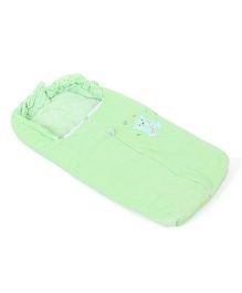 Montaly Baby Sleeping Bag Good Night Embroidery - Green