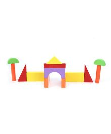 Anindita Toys Wooden Basic Building Blocks - 28 Pieces