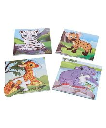 Anindita Toys Fun With Puzzles - Baby Animals