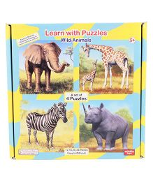Learn With Puzzles - Wild Animals