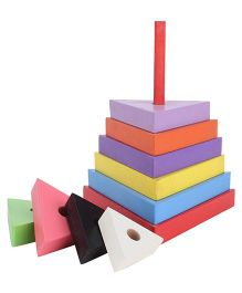 Anindita Toys Stacking Triangles Towers - 9 Pieces