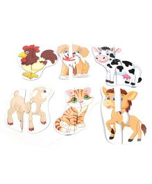 Anindita Toys Toddler Puzzles - Domestic Animals