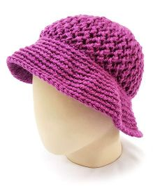 Magic Needles Adorable Flower Hat - Purple