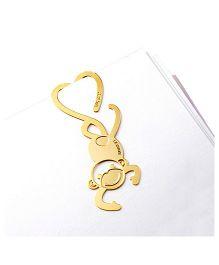 EZ Life Monkey Bookmark - Gold