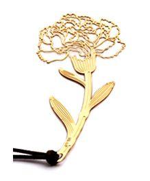 EZ Life Carnation Bookmark - Gold