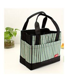 EZ Life Thermal Lunch Box Bag - Green & Black