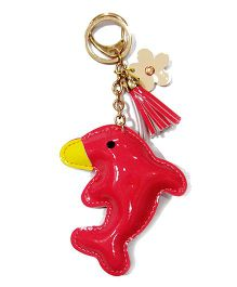 EZ Life Cute Dolphin Shape Keychain - Red