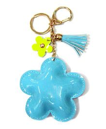 EZ Life Gorgeous Flower Shape Keychain - Blue