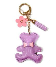 EZ Life Cute Teddy Shape Keychain - Lilac Purple