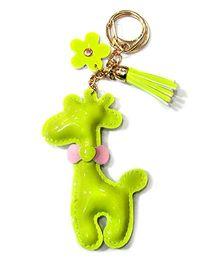 EZ Life Cute Giraffe Shape Keychain - Lime Green