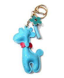 EZ Life Cute Giraffe Shape Keychain - Blue